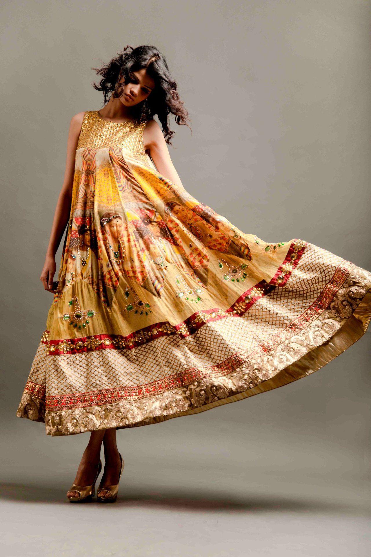Anarkali indian fashion pragya and megha samor salwaar kameez