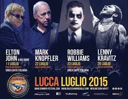LUCCA SUMMER FESTIVAL:  The bigger music summer festival will take place in July. Come in lucca, palazzo busdraghi will welcome you