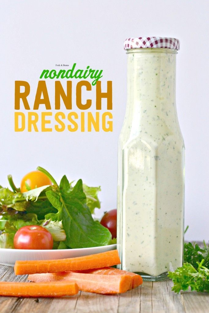 Vegan Ranch Dressing Recipe Salad Dressings Pinterest