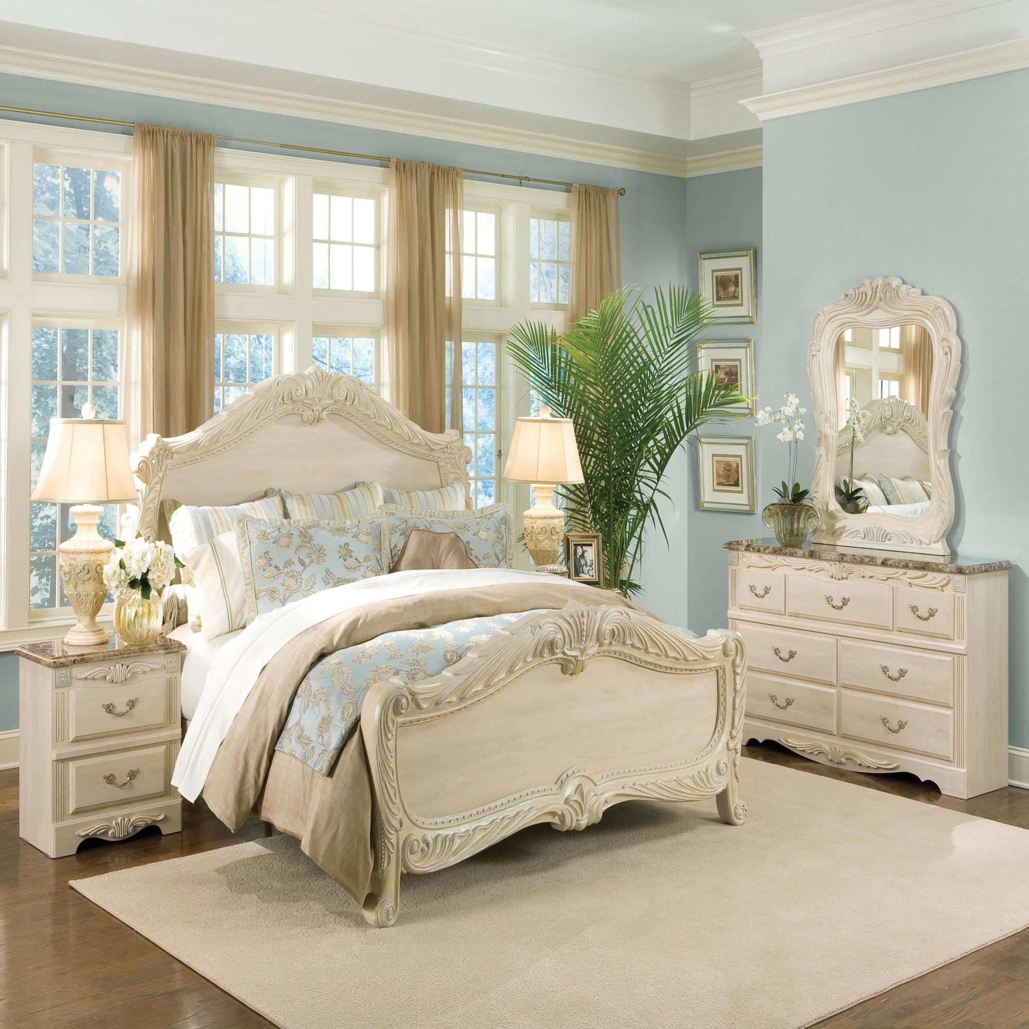 Bedroom Sets  Wayfair  Cream bedroom furniture, Bedroom interior