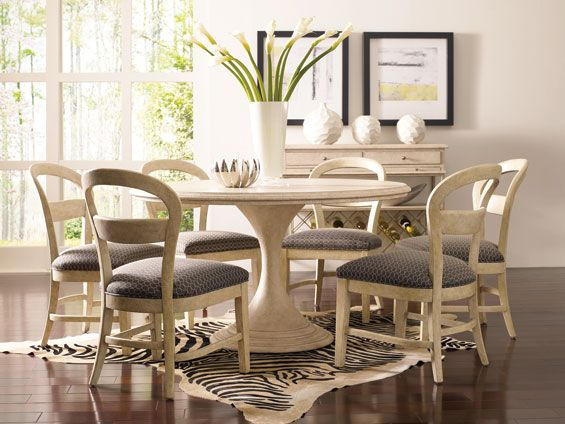 From Stanley The Modern Portfolio Round Dining Table Base Has A Delectable Ivory Dining Room Set 2018