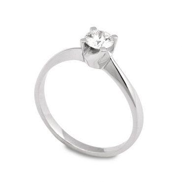 Λεπτό μονόπετρο δαχτυλίδι φλόγα με διακριτικό γυριστό δέσιμο 55deaf0dc9d