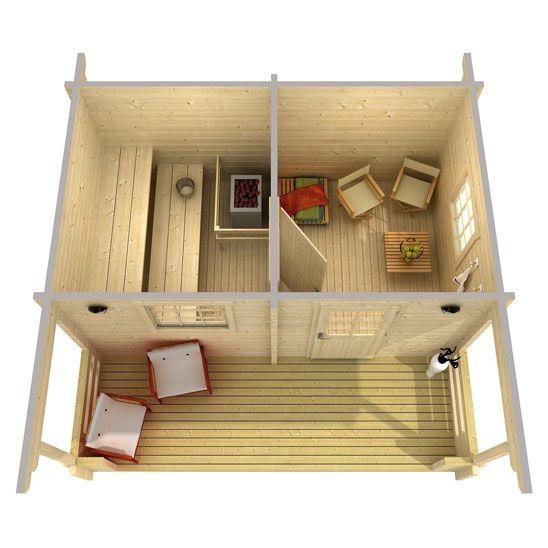 Log Sauna Plans Plan Doma Kabina Dom