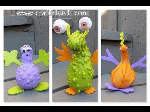 alien gourds halloween craft tutorial youtube - Youtube Halloween Crafts