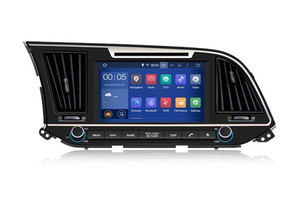 ПОДАРКИ 16g1024 600 Quad Core Android 5 1 Fit Hyundai Elantra Avante Md 2016 2017 АВТОМОБИЛЬ головное устройство стер Car Dvd Players Car Audio Car Electronics