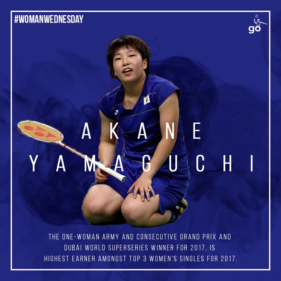 Akane Yamaguchi, the Japanese badminton player