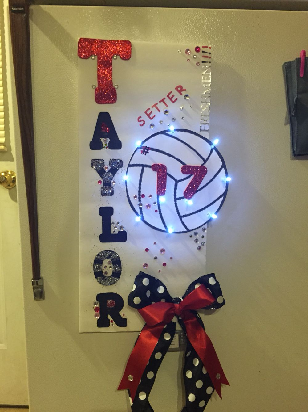 Volleyball Sign Volleyball Locker Volleyball Locker Decorations Volleyball Crafts