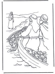 jesus calls me coloring pages Jesus near the water lots of Bible