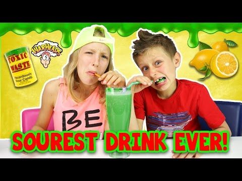 Extreme Sour Smoothie Challenge Warheads Toxic Waste Dangerous Youtube Smoothie Challenge Youtube Videos Youtube