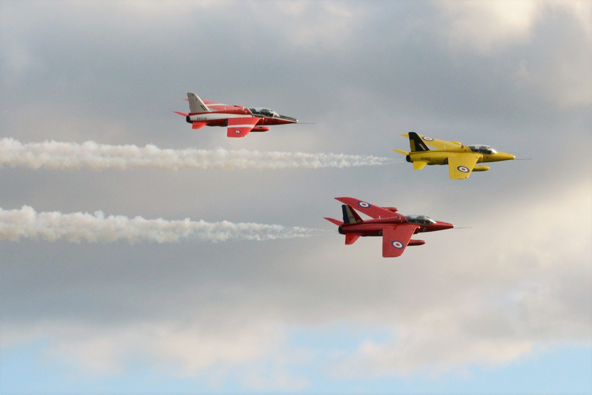 The gnat was operated by the RAF aerobatic demonstration team, first known as the Yellowjacks, and then as the Red Arrows. Many are still in private hands today.