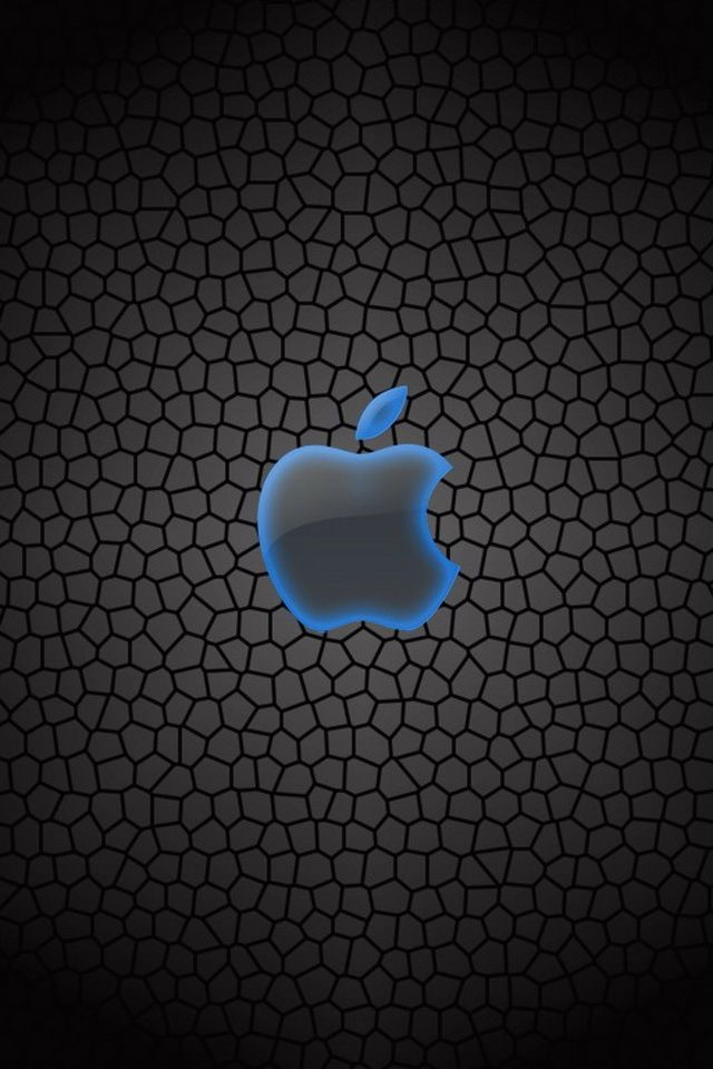 Blue Outlined Apple Symbol Apple Wallpaper Apple Logo Wallpaper Iphone Apple Logo Wallpaper Cool logo cool wallpapers for your phone