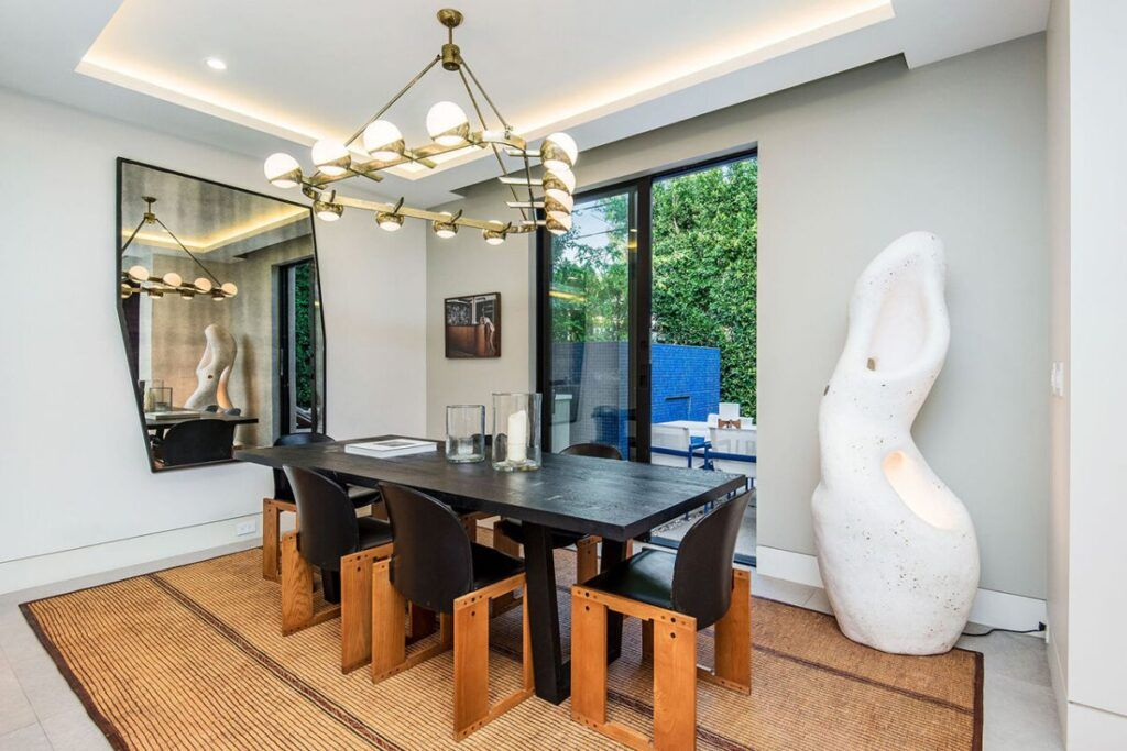 Refined Architectural West Hollywood House For Rent 20 000 Per Month Luxury Homes Beautiful Dining Rooms Renting A House