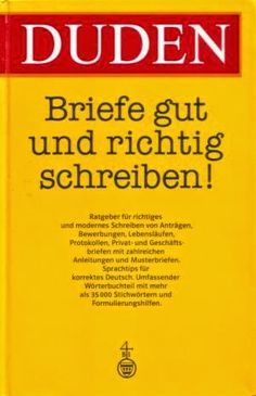 Duden Briefe Gut Und Richtig Schreiben With Images German