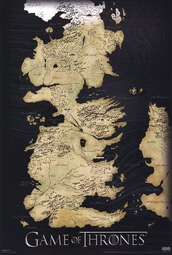 - Game of Thrones - Map - art prints and posters