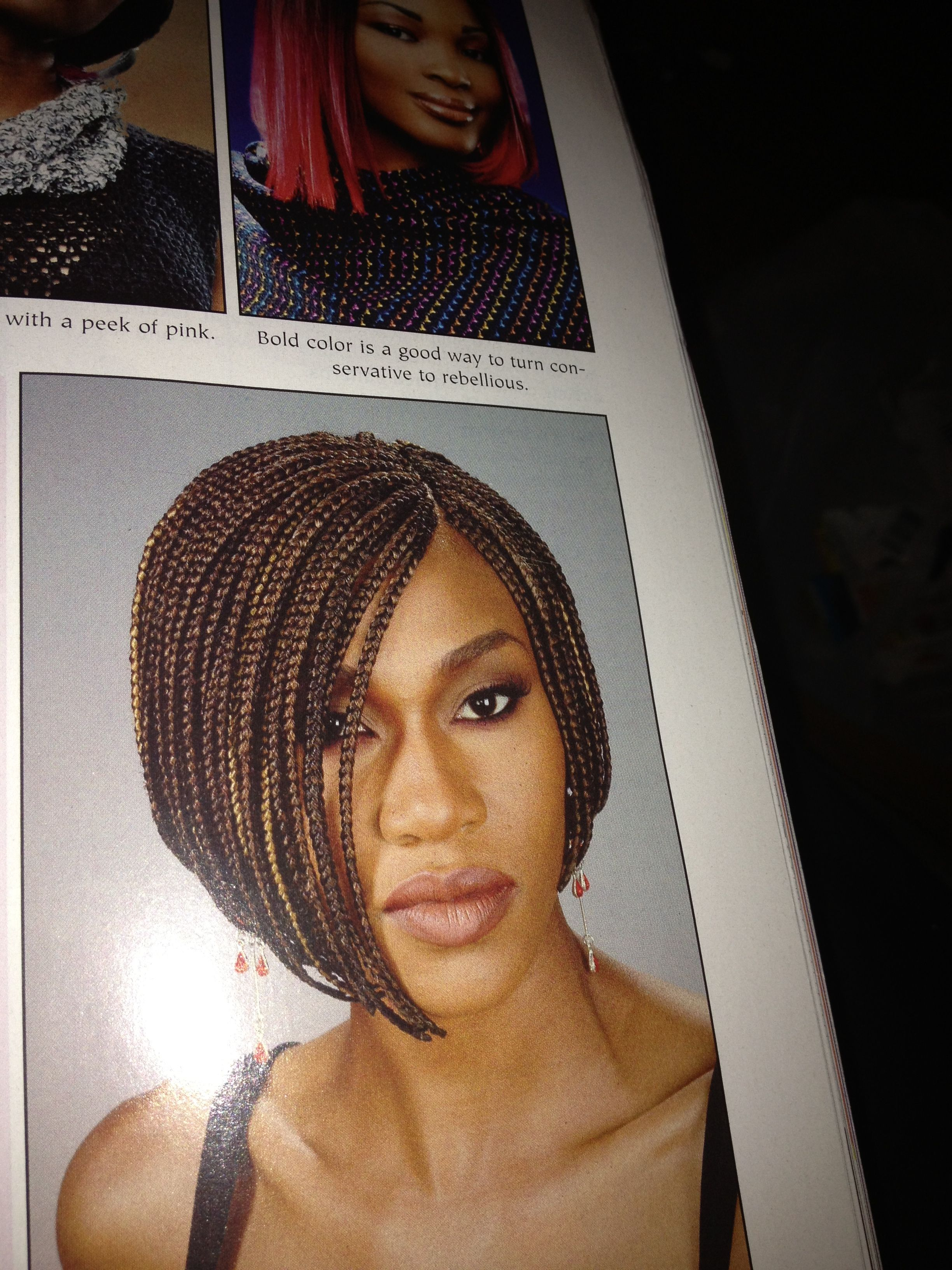Box braid bob natural hair hairstyle inspiration pinterest