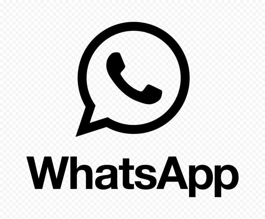 Hd Black Whatsapp Text Logo With Symbol Png Text Logo Logos Symbols