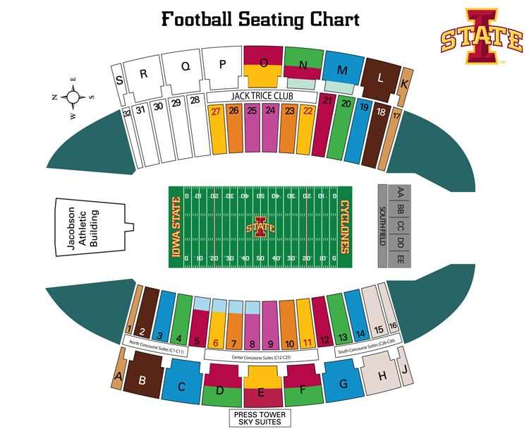 Jack trice seating map actually  great thing to carry around help find friends also best cyclone football countdown pin it win images iowa rh pinterest