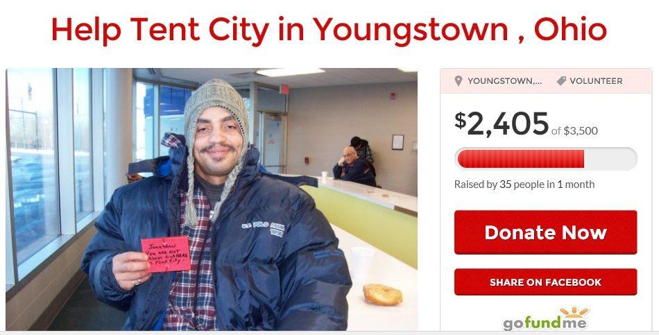 http://www.gofundme.com/helpthehouseless Youngstown Ohio