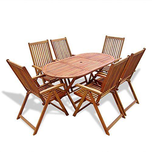 Sedie In Legno Da Giardino Offerte.Offerta Di Oggi Festnight Set Da Pranzo Per Esterni Tavolo Sedie