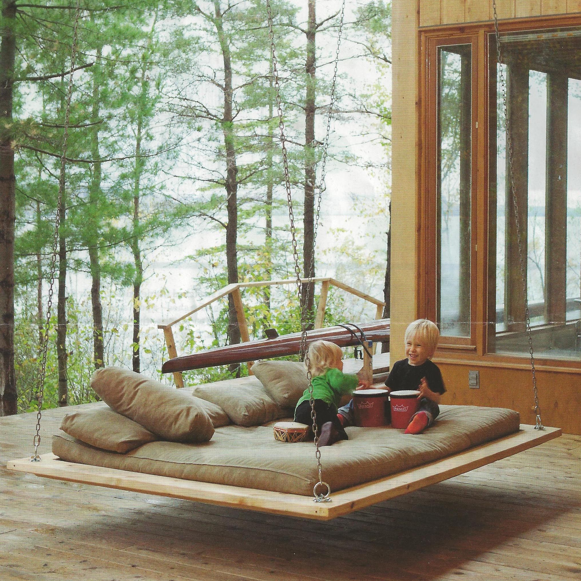Swinging bed anyone dwell magazine out door living pinterest