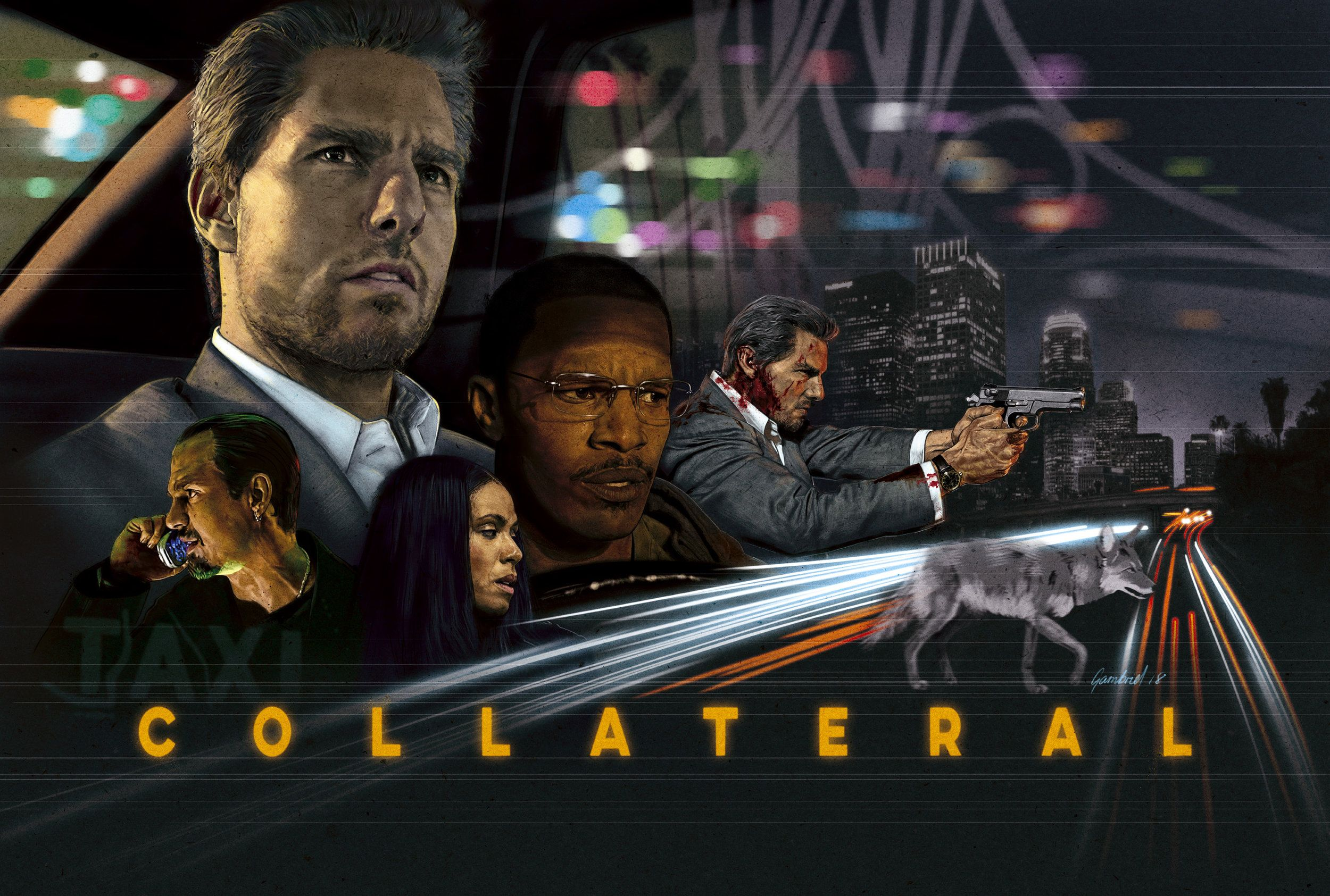 Collateral 2004 2500x1685 By Mike Gambriel Avengers Film Posters Best Movie Posters Avengers Film