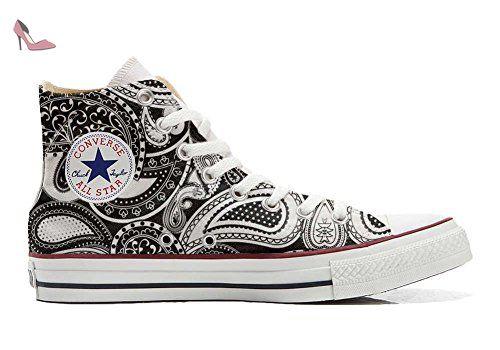 Converse All Star Hi Customized personalisierte Schuhe (Handwerk Schuhe) Elegant Paisley size 44 EU