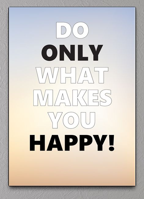 only happy tekst plakat