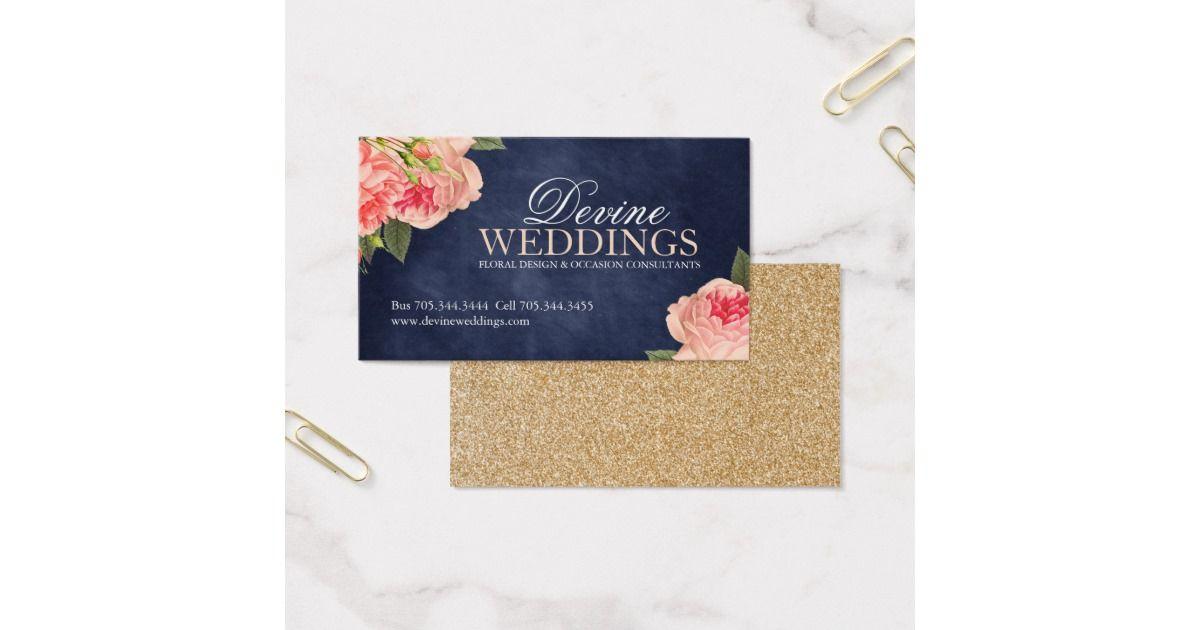 Elegant Wedding Planner Business Cards | Business cards, Business ...