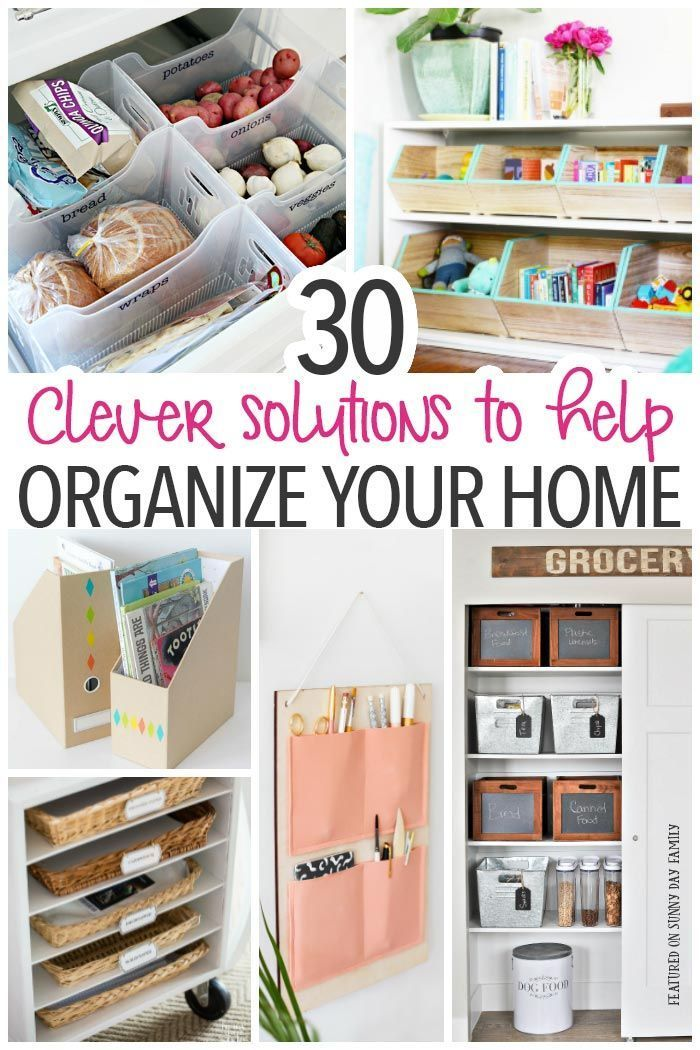 30 Clever Solutions for How to Organize Your Home   DIY storage ...