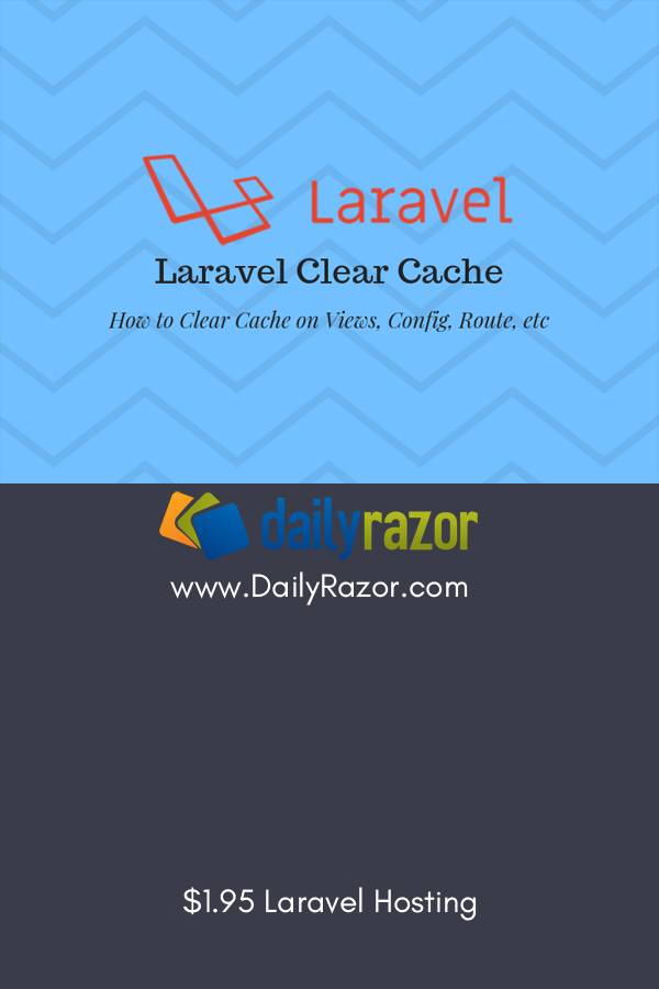 How to laravel clear cache for your PHP web app using the