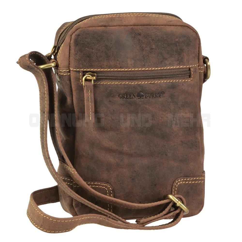 c5b37a003c396 Greenburry kleine Umhängetasche Leder Messenger Bag VINTAGE Tasche Taschen  Günstig