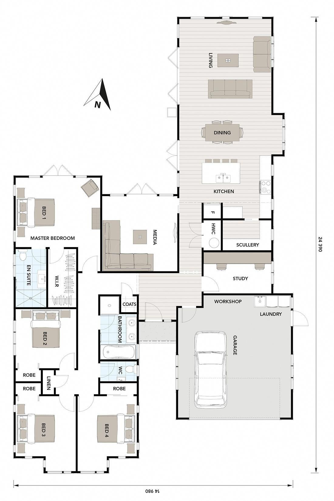 Floor Plan Friday: Laundry in the garage