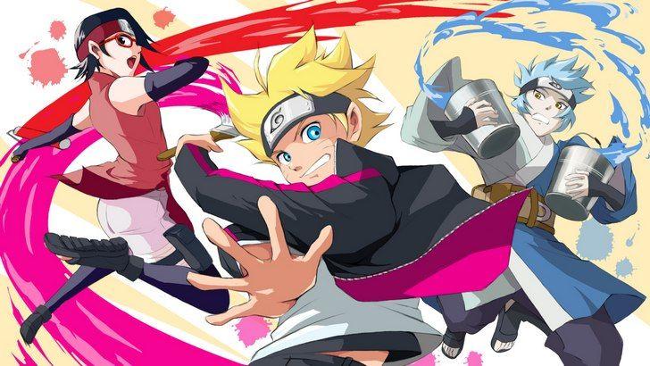 Boruto Sarada And Mitsuki Wallpaper Wallpaper Naruto Animasi Anime Naruto