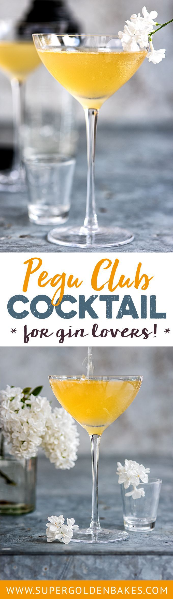 The Pegu Club Cocktail is overdue a revival! Gin, orange liqueur, lime juice a bitters make for a perfectly balanced and potent drink | Supergolden Bakes