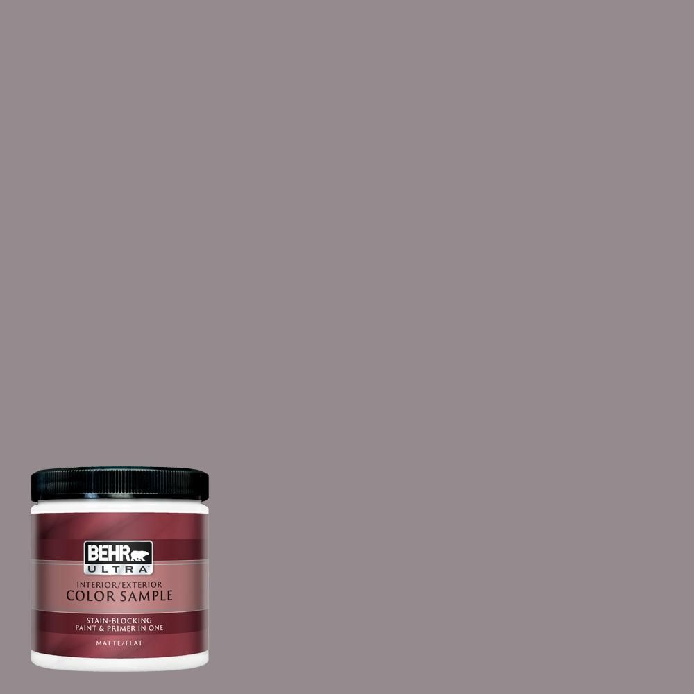 Behr Ultra 8 Oz T18 03 Graylac Matte Interior Exterior Paint And