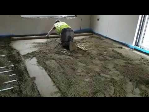How To Install Floor Screeding Tel 01926 679603 Nationwide Floor Scre Outside Flooring Floor Installation Diy Flooring