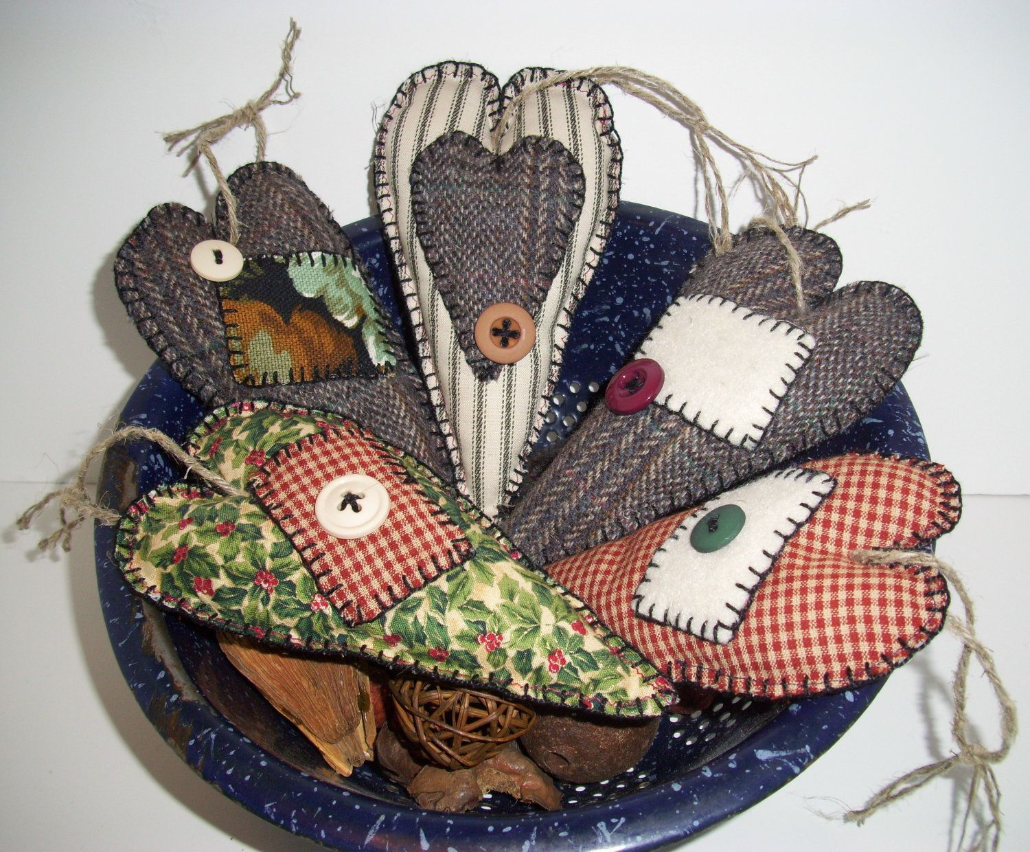 Etsygiftssale handmade primitive christmas ornament rustic Country christmas gifts to make