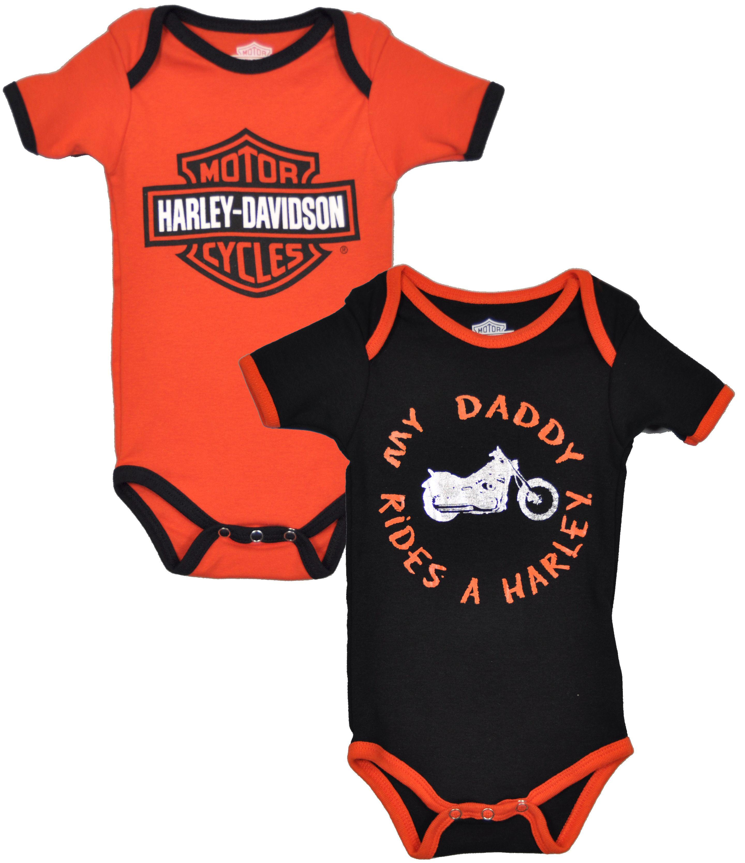 Harley-Davidson ® Boys' 2-Pc Creeper Set My Daddy Rides a Ha