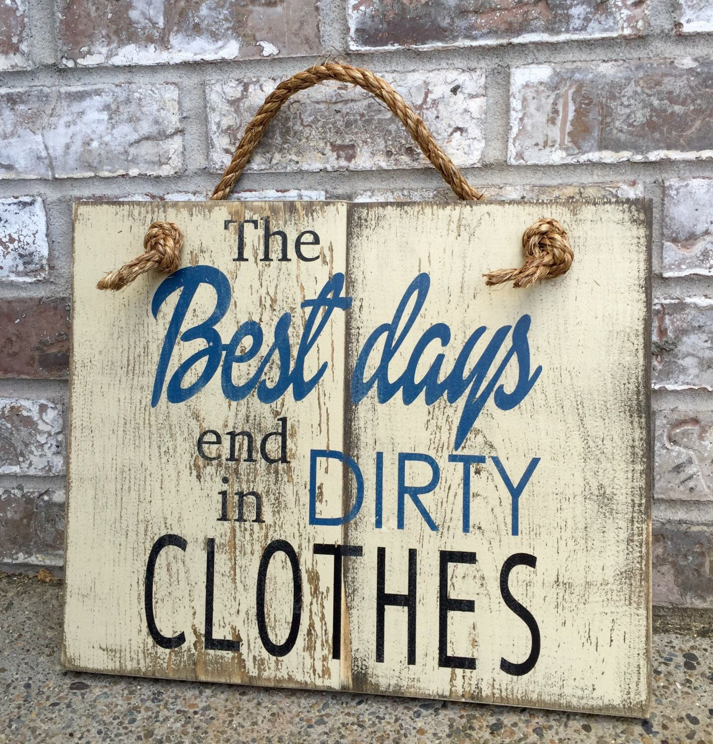 Mud Kitchen Signs: Dirty Clothes Rustic Sign