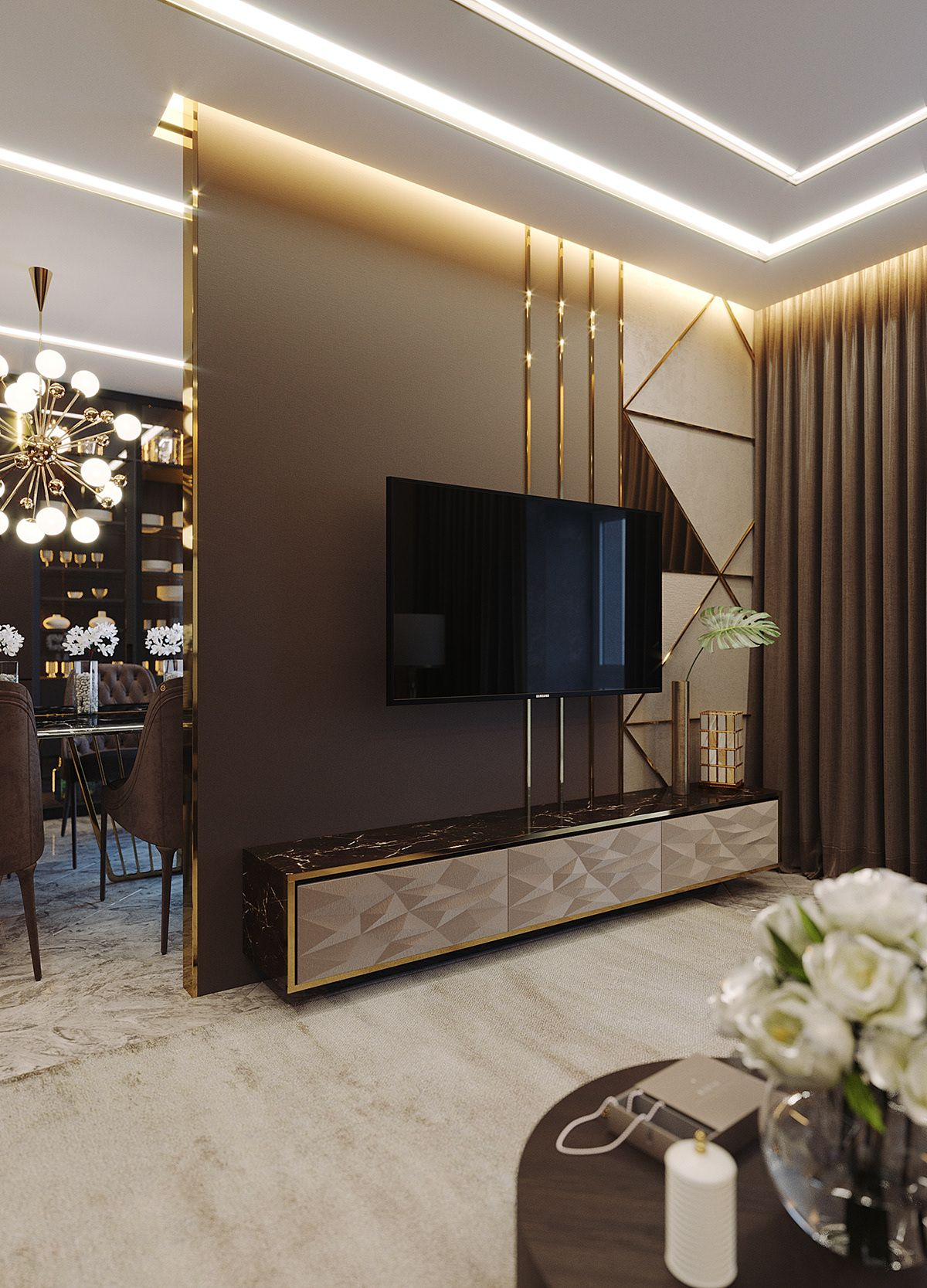 Living Room On Behance Living Room Tv Unit Designs Living Room Partition Design Luxury Living Room Design