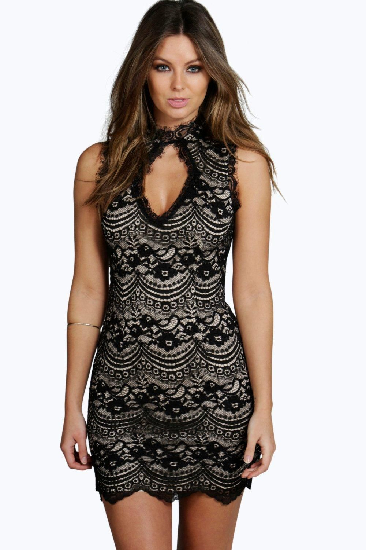 Boutique laura lace keyhole bodycon dress bodycon dress boohoo