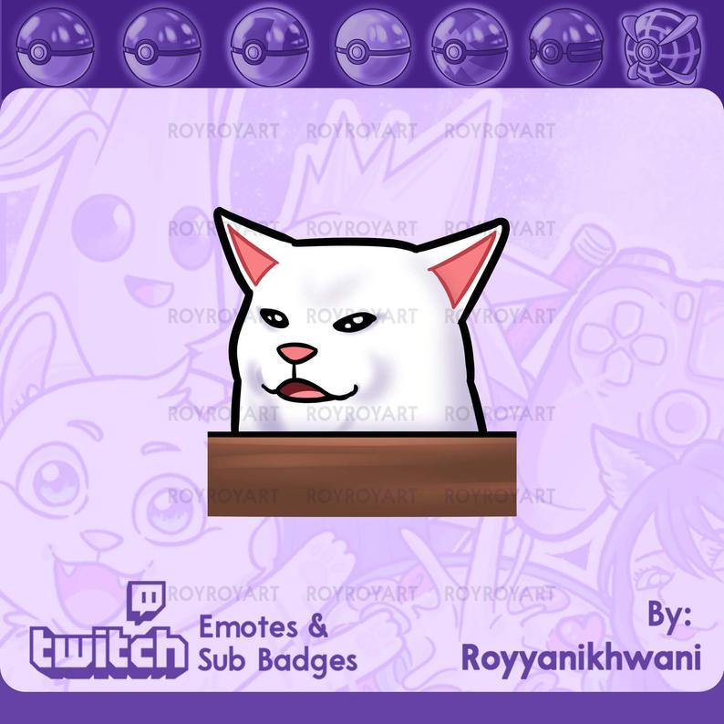 Twitch Emote White Cat Meme In 2021 White Cat Meme White Cat Cat Memes
