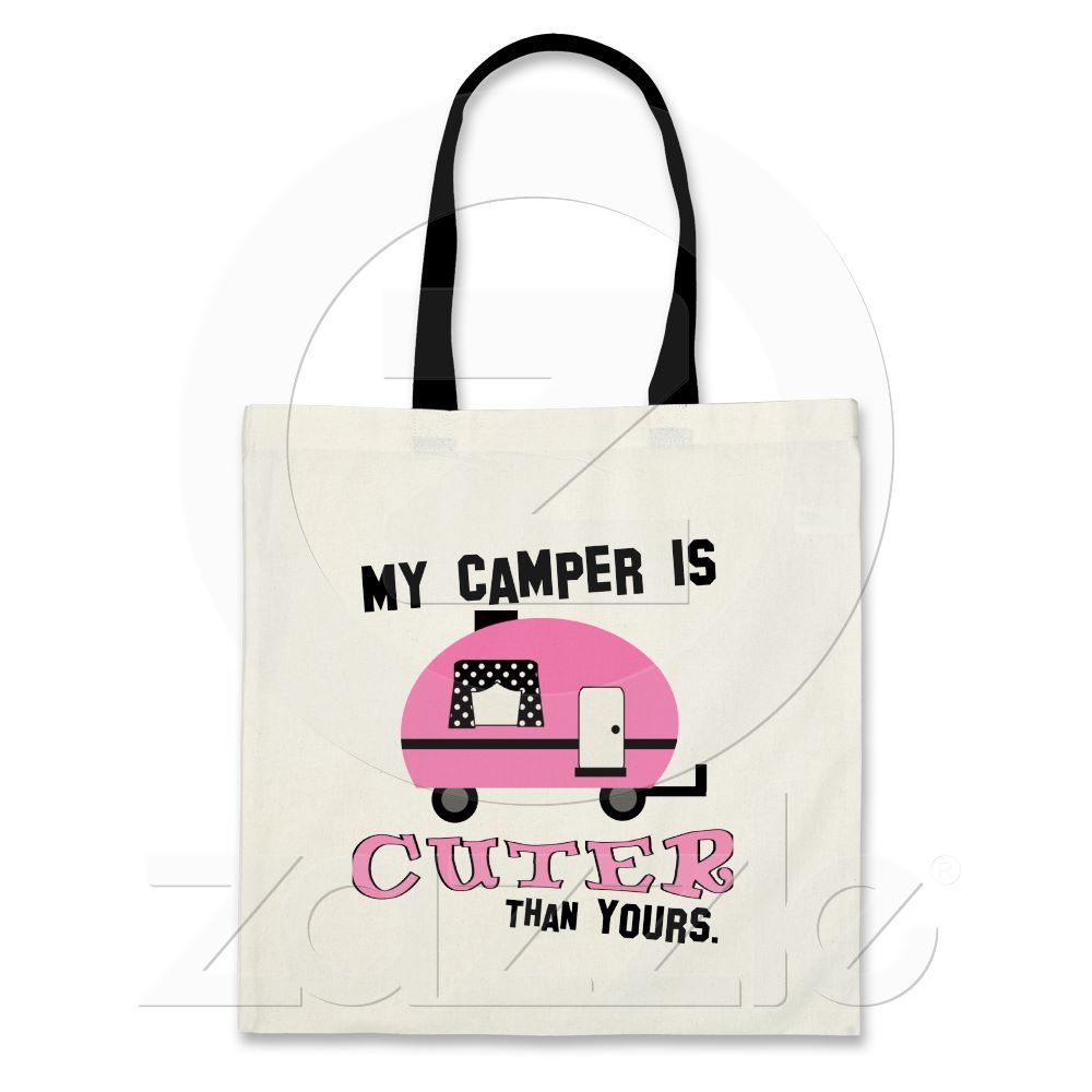 Pink Retro Camper Tote Bag Tote bag, Womens