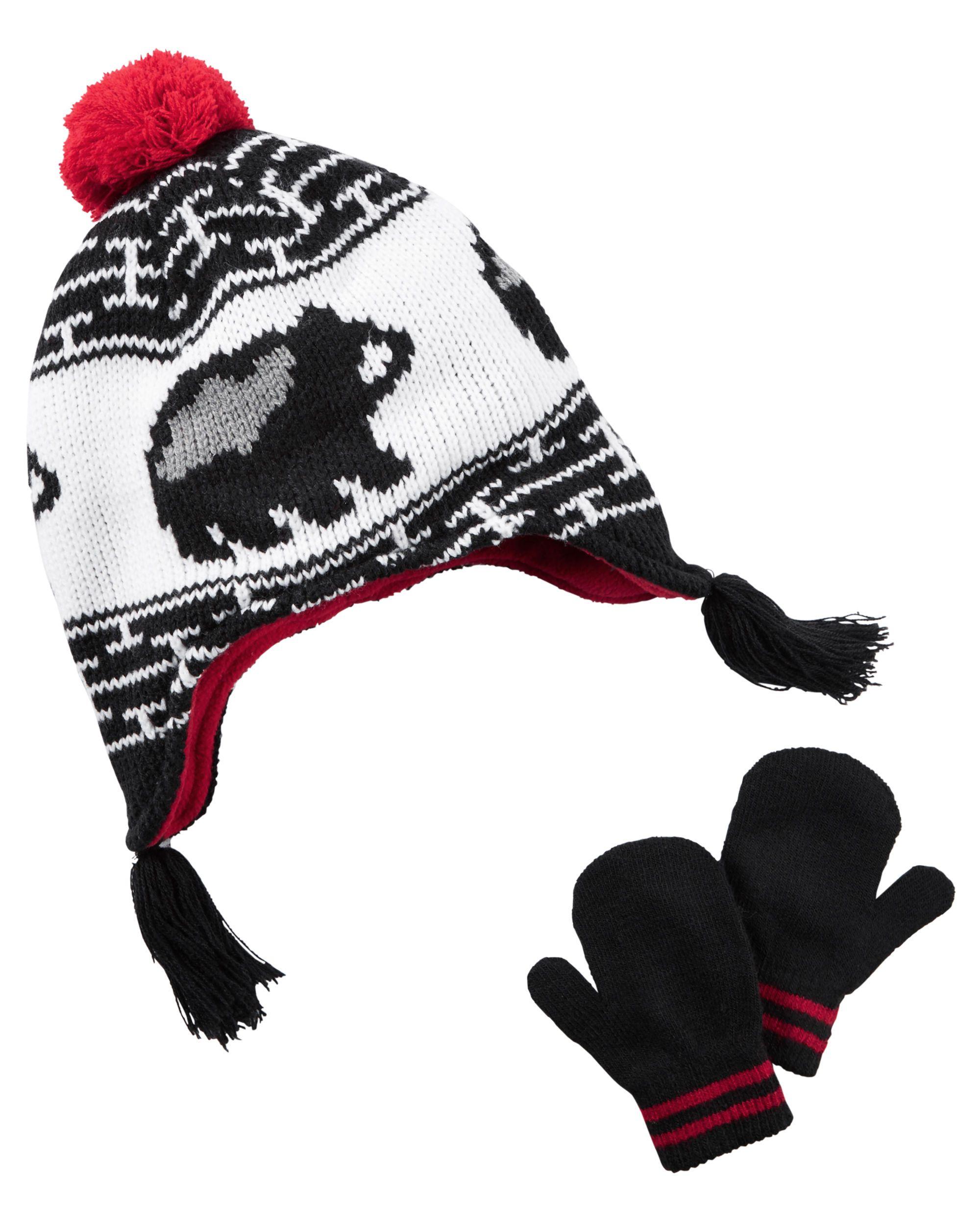 f9353369ea035 Baby Boy Hat   Mitten Set