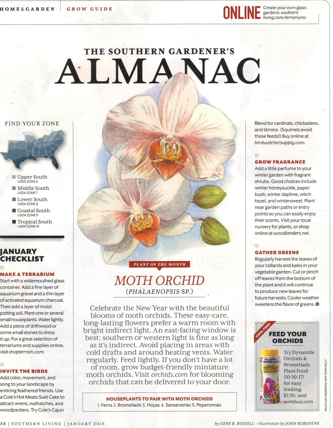 the southern gardener u0027s almanac from southern living january 2015