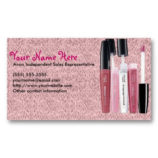 Avon Business Cards Order Avon Business Cards Pinterest Avon - Avon business card template