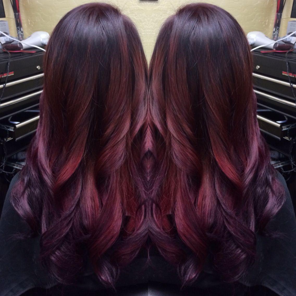 Merlot hair color - Hair Cuts Merlot Balayage