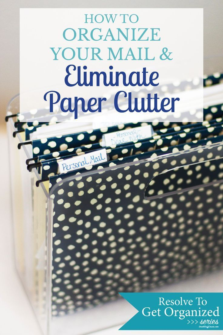 how to organize mail to eliminate paper clutter creatively