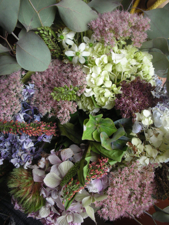 Plaisir De Composer Mes Bouquets Sedum Hydrangea Jardins