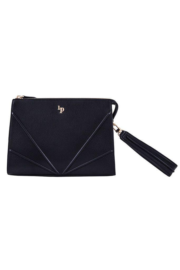 Australian Designer Handbags Milano Espresso Gold Clutch